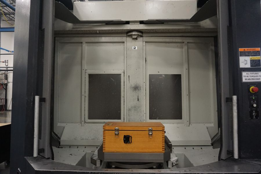"OKK HM800S 4-Axis, Fanuc 310iS Model A, (2) 32"" Pallet, 12K RPM, CT50, 160 ATC, CTS, Chip"