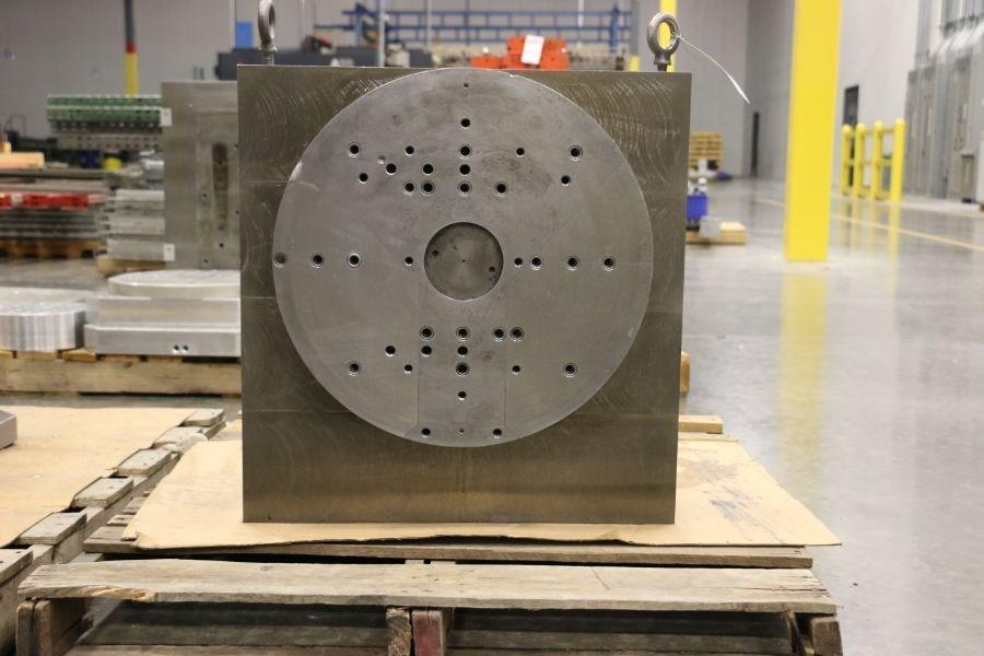 Custom Angle Plate with Pneumatic Rotary Fixture