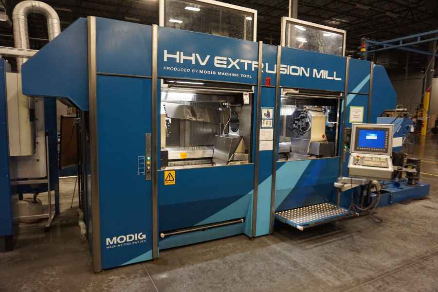 Modig HHV 4-Axis High Speed Extrusion Mill, Fanuc 30i Model B Control, Fischer 1700 mm 30K - Image 14 of 18