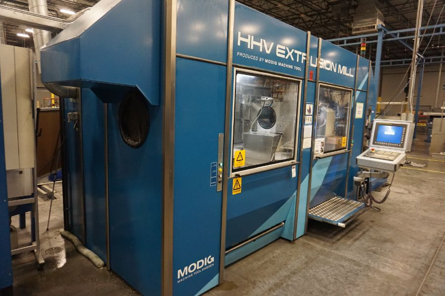 Modig HHV 4-Axis High Speed Extrusion Mill, Fanuc 30i Model B Control, Fischer 1700 mm 30K - Image 3 of 18
