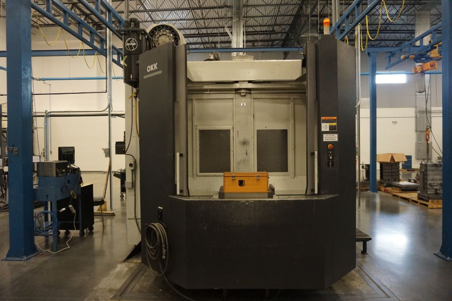 "OKK HM800S 4-Axis, Fanuc 310iS Model A, (2) 32"" Pallet, 12K RPM, CT50, 160 ATC, CTS, Chip - Image 6 of 20"