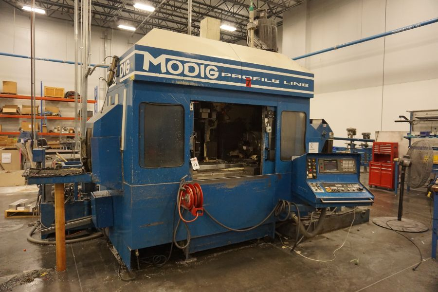 Modig MD7200, Fanuc 16M, 20K RPM, 24 ATC, CT40, s/n 970331, New 1997 - Image 7 of 14