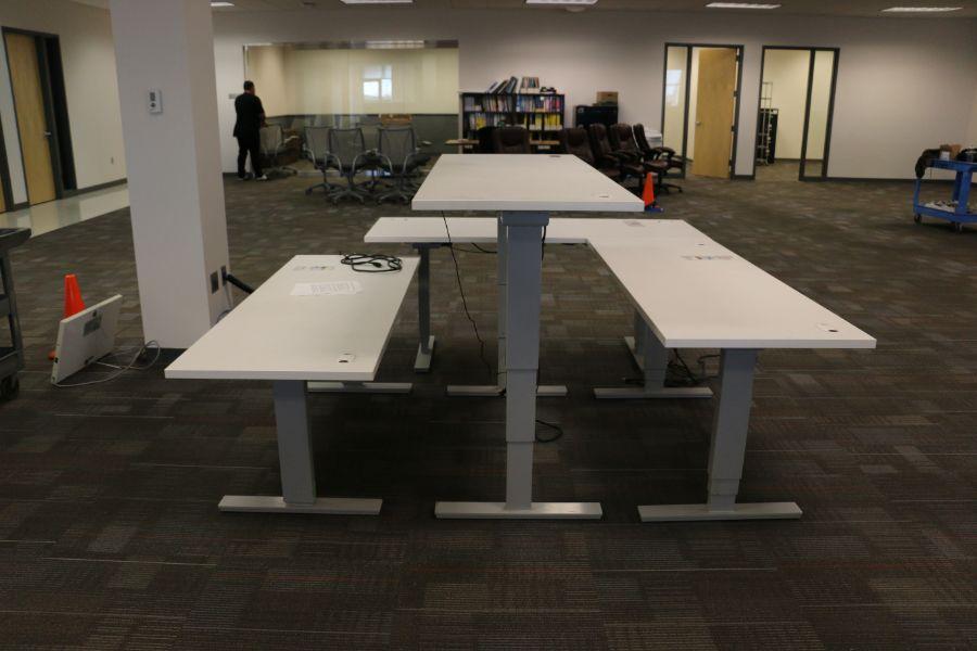 Lot 875 - Adjustable Desks