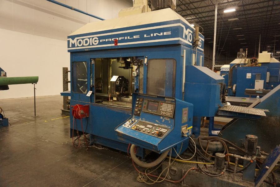 Modig MD7200, Fanuc 16M, 20K RPM, 24 ATC, CT40, s/n 970329, New 1997 - Image 6 of 16