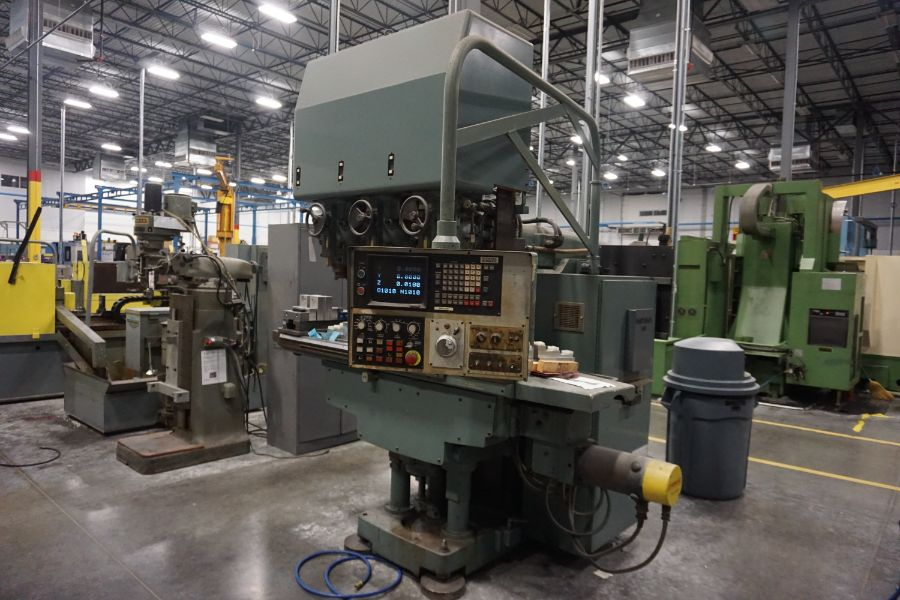 """Makino Three D, 3 Spindle VMC, Fanuc GN6 Series Control, 20"""" x 72"""" Table - Image 3 of 11"""