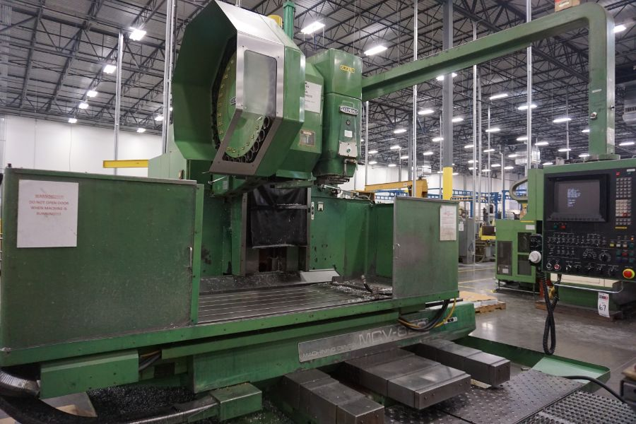 """OKK MCV-860 4-Axis VMC, Fanuc Neomatic System 11 Control, 80"""" x 34"""", 6000 RPM, CT50, 30 ATC, s/n - Image 6 of 13"""