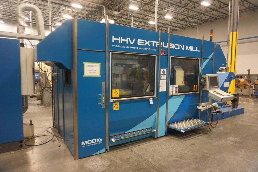 Modig HHV 4-Axis High Speed Extrusion Mill, Fanuc 30i Model B, Fischer 1700 mm 30K Spindle, 28000 - Image 3 of 18
