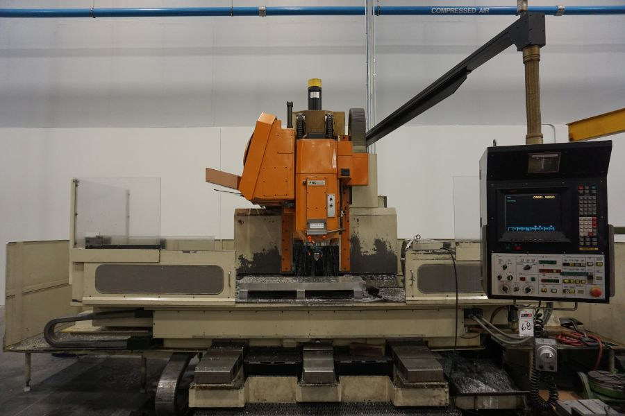 """Makino FNC-208 4-Axis VMC, Fanuc 6M Control, 32"""" x 98"""", 3200 rpm, 30 ATC, CT50, s/n 81 with 16"""" - Image 2 of 16"""
