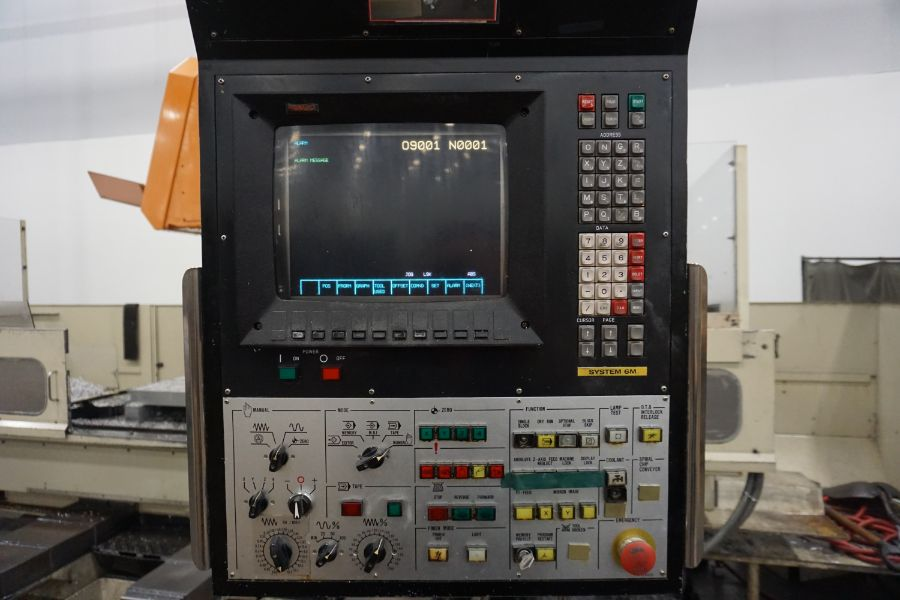 """Makino FNC-208 4-Axis VMC, Fanuc 6M Control, 32"""" x 98"""", 3200 rpm, 30 ATC, CT50, s/n 81 with 16"""" - Image 12 of 16"""
