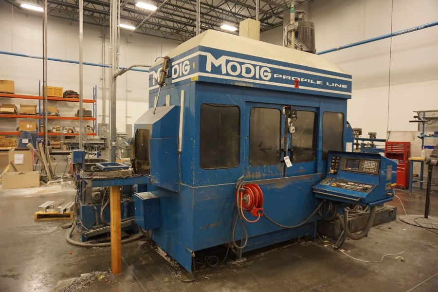 Modig MD7200, Fanuc 16M, 20K RPM, 24 ATC, CT40, s/n 970331, New 1997 - Image 6 of 14