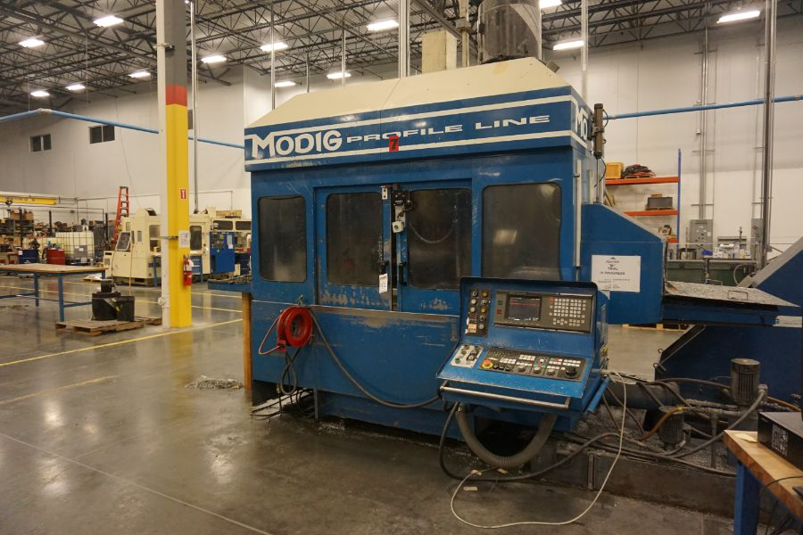 Modig MD7200, Fanuc 16M, 20K RPM, 24 ATC, CT40, s/n 970331, New 1997 - Image 5 of 14
