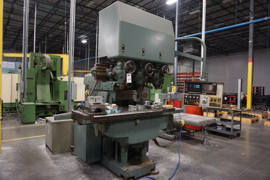 """Makino Three D, 3 Spindle VMC, Fanuc GN6 Series Control, 20"""" x 72"""" Table - Image 6 of 11"""