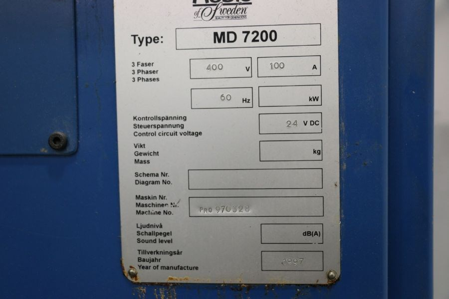 Modig MD7200, Fanuc 16M Control, 20K RPM, 24 ATC, CT40, s/n 970328, New 1997 *Parts Only Machine* - Image 8 of 8