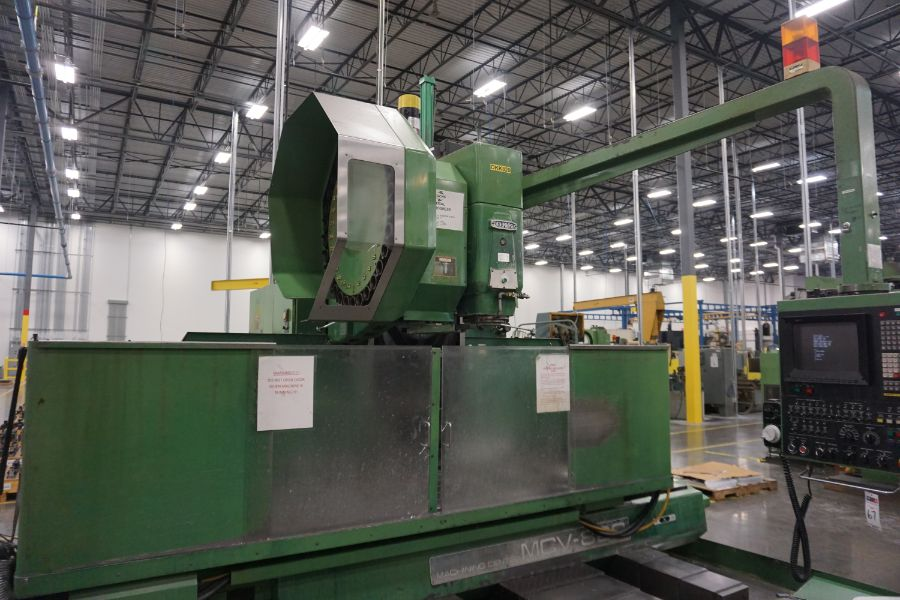 """OKK MCV-860 4-Axis VMC, Fanuc Neomatic System 11 Control, 80"""" x 34"""", 6000 RPM, CT50, 30 ATC, s/n - Image 2 of 13"""