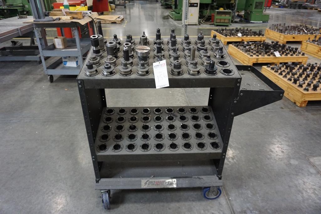 Assorted BT 40 Tool Holders. W / Tool Cart