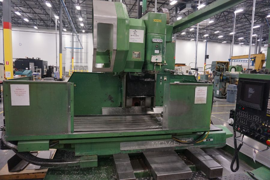 """OKK MCV-860 4-Axis VMC, Fanuc Neomatic System 11 Control, 80"""" x 34"""", 6000 RPM, CT50, 30 ATC, s/n - Image 4 of 13"""