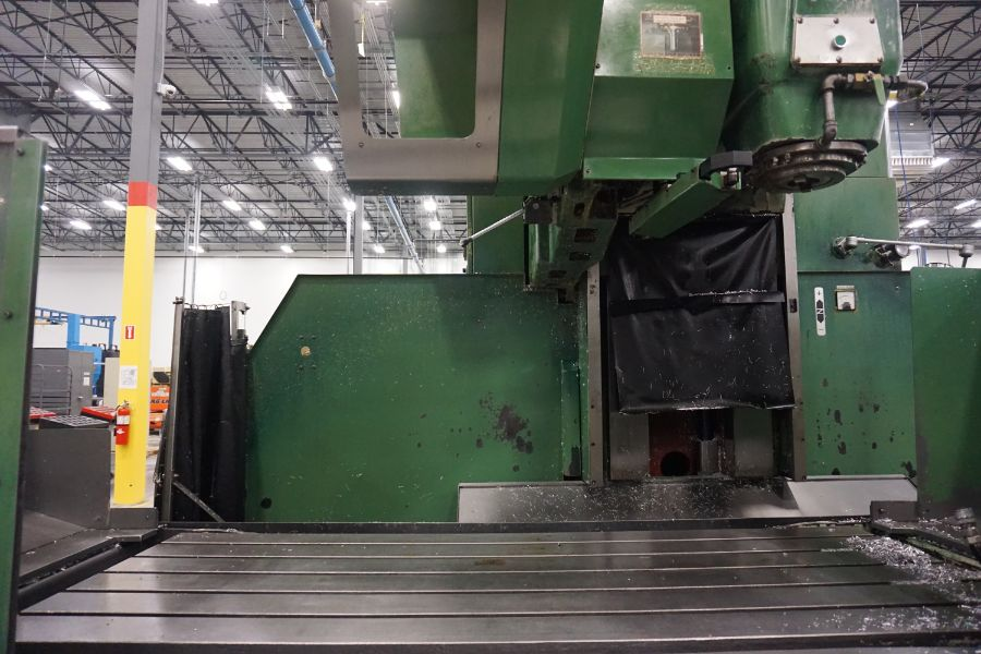"""OKK MCV-860 4-Axis VMC, Fanuc Neomatic System 11 Control, 80"""" x 34"""", 6000 RPM, CT50, 30 ATC, s/n - Image 9 of 13"""