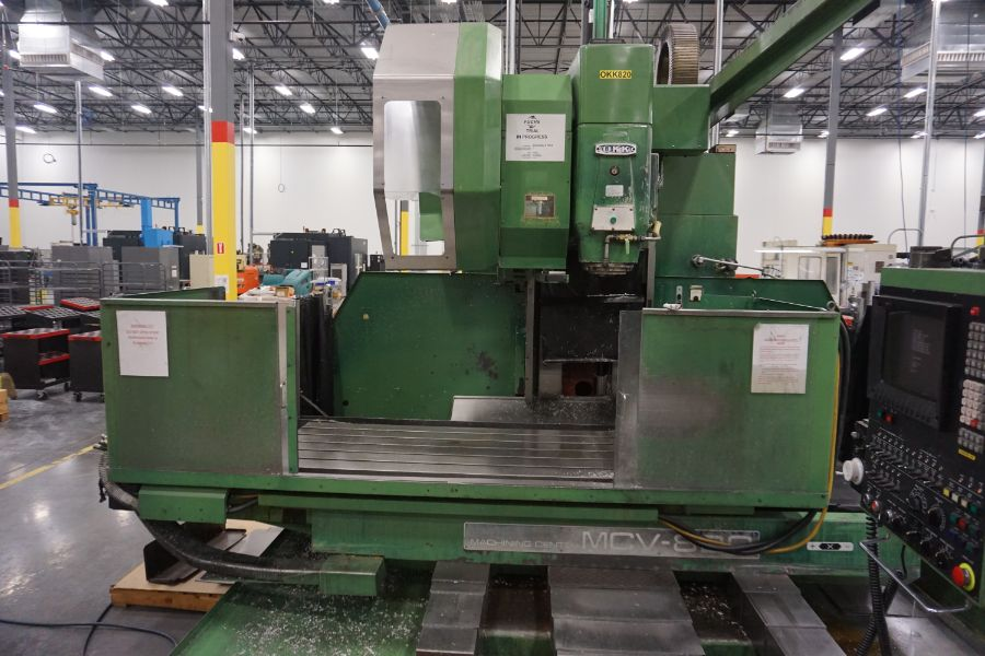 """OKK MCV-860 4-Axis VMC, Fanuc Neomatic System 11 Control, 80"""" x 34"""", 6000 RPM, CT50, 30 ATC, s/n - Image 5 of 13"""