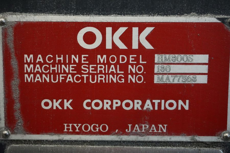 """OKK HM800 5-Axis, Fanuc 31i Model A5, (2) 32"""" Pallets, 12k RPM, CT50, 60 ATC, New 2011 with 12"""" - Image 11 of 17"""