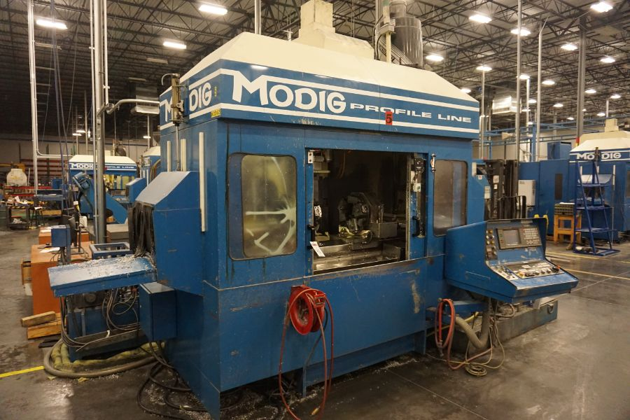 Modig MD7200, Fanuc 16M, 20K RPM, 24 ATC, CT40, s/n 970329, New 1997 - Image 9 of 16