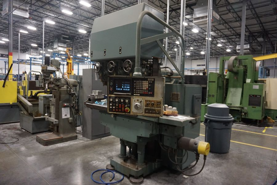 """Makino Three D, 3 Spindle VMC, Fanuc GN6 Series Control, 20"""" x 72"""" Table - Image 4 of 11"""