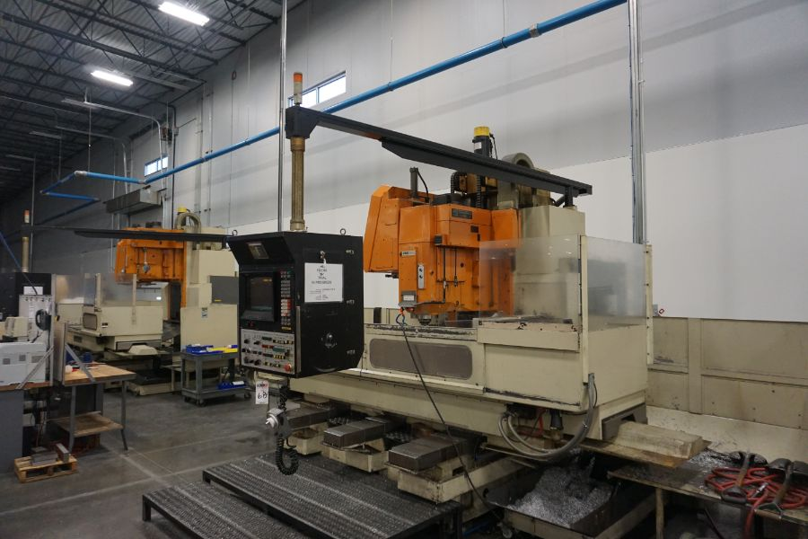"""Makino FNC-208 4-Axis VMC, Fanuc 6M Control, 32"""" x 98"""", 3200 rpm, 30 ATC, CT50, s/n 81 with 16"""" - Image 7 of 16"""
