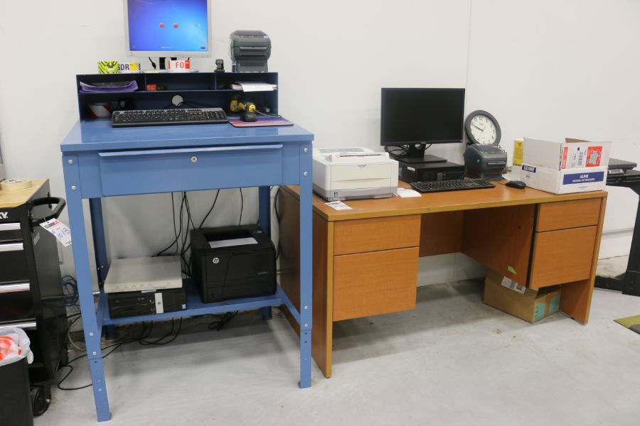 Lot 1025 - Work Station and Office Desks and Table*No Content*