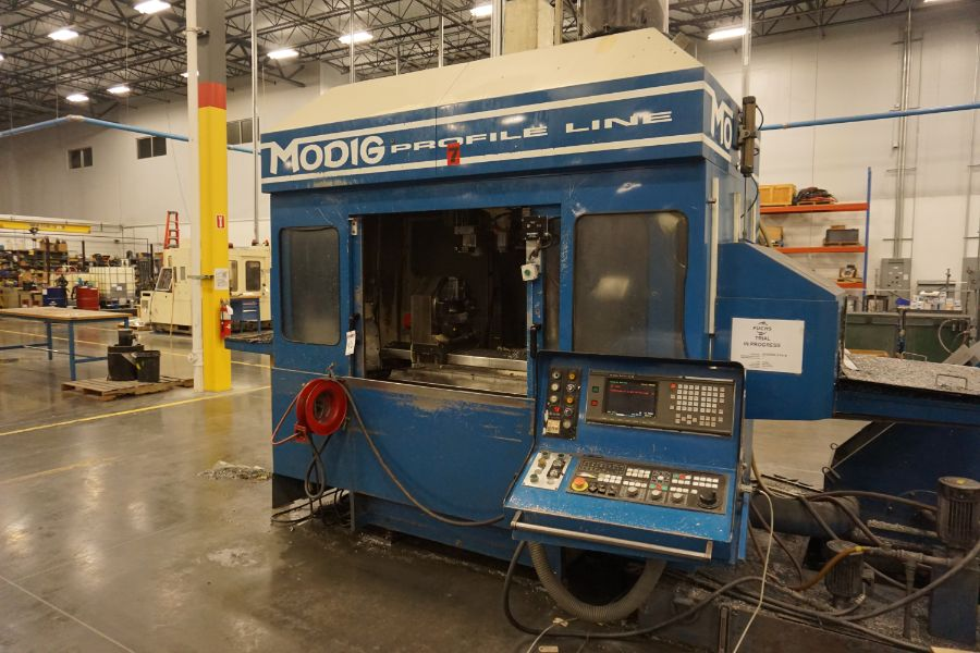 Modig MD7200, Fanuc 16M, 20K RPM, 24 ATC, CT40, s/n 970331, New 1997 - Image 8 of 14