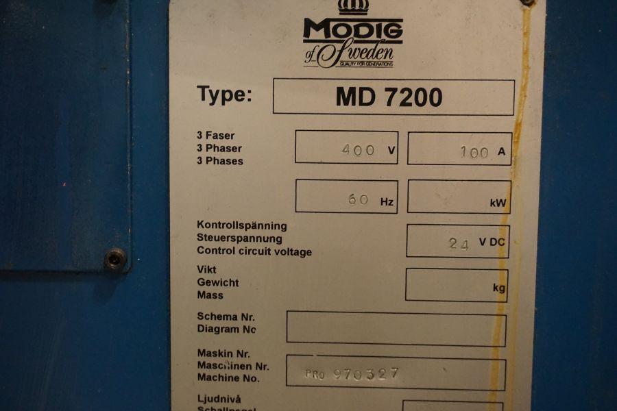 Modig MD7200, Fanuc 16M, 20K RPM, 24 ATC, CT40, s/n 970327, New 1997 - Image 13 of 14