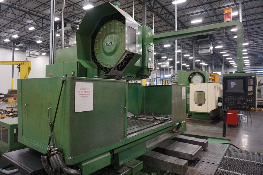 """OKK MCV-860 4-Axis VMC, Fanuc Neomatic System 11 Control, 80"""" x 34"""", 6000 RPM, CT50, 30 ATC, s/n - Image 7 of 13"""