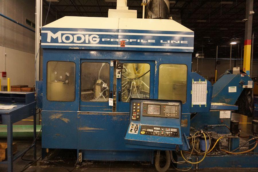 Modig MD7200, Fanuc 16M, 20K RPM, 24 ATC, CT40, s/n 970327, New 1997