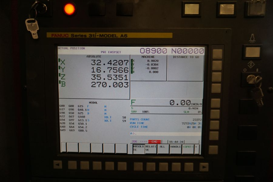"OKK HM800S 4-Axis, Fanuc 310iS Model A, (2) 32"" Pallet, 12K RPM, CT50, 160 ATC, CTS, Chip - Image 12 of 20"