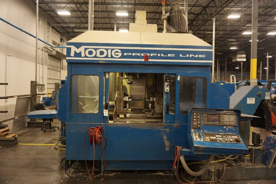 Modig MD7200, Fanuc 16M, 20K RPM, 24 ATC, CT40, s/n 970329, New 1997