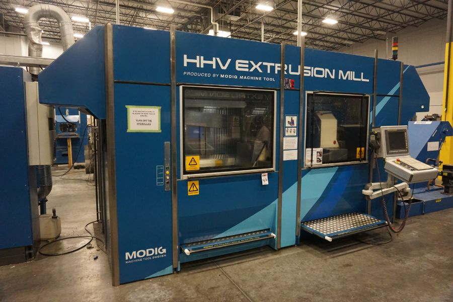 Modig HHV 4-Axis High Speed Extrusion Mill, Fanuc 30i Model B, Fischer 1700 mm 30K Spindle, 28000