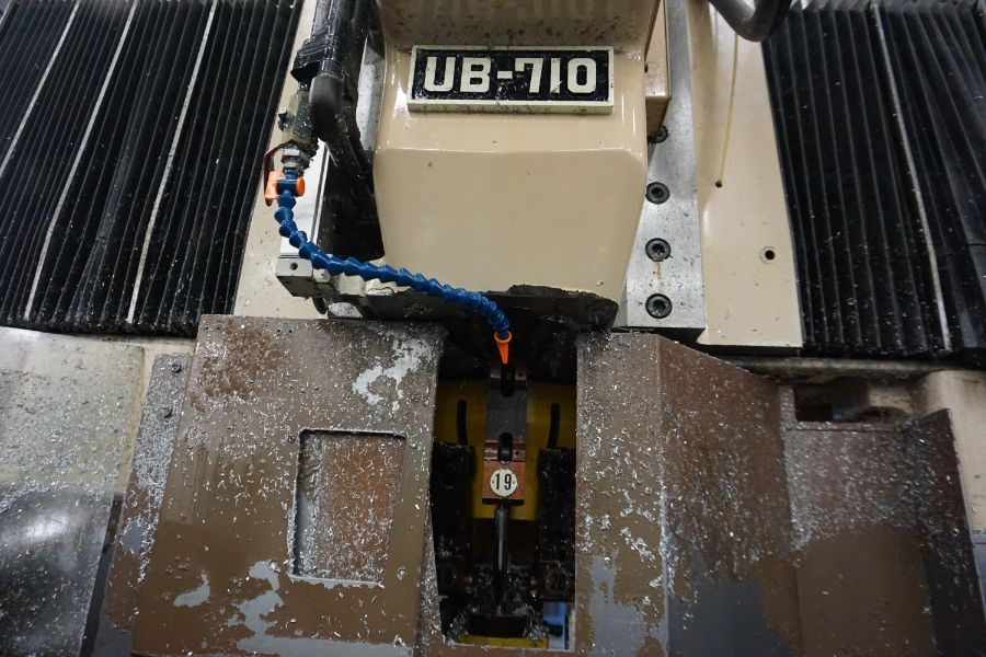 "Urawa UB-710 VMC , Fanuc System 6M Control, 32"" x 46"" Table, BT40, 22 ATC, s/n M-2090, New 1984 - Image 8 of 11"