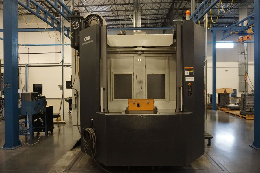 "OKK HM800S 4-Axis, Fanuc 310iS Model A, (2) 32"" Pallet, 12K RPM, CT50, 160 ATC, CTS, Chip - Image 5 of 20"