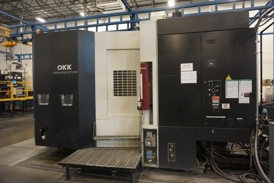 "OKK HM800S 4-Axis, Fanuc 310iS Model A, (2) 32"" Pallet, 12K RPM, CT50, 160 ATC, CTS, Chip - Image 7 of 20"