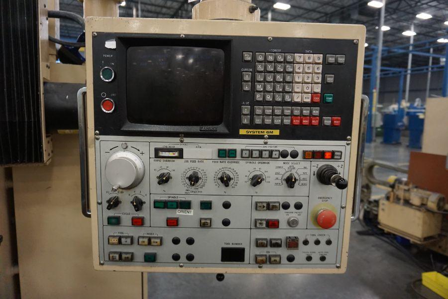 "Urawa UB-710 VMC , Fanuc System 6M Control, 32"" x 46"" Table, BT40, 22 ATC, s/n M-2090, New 1984 - Image 10 of 11"