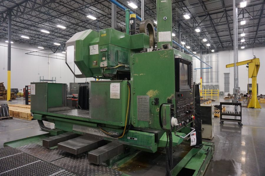 """OKK MCV-860 4-Axis VMC, Fanuc Neomatic System 11 Control, 80"""" x 34"""", 6000 RPM, CT50, 30 ATC, s/n - Image 8 of 13"""