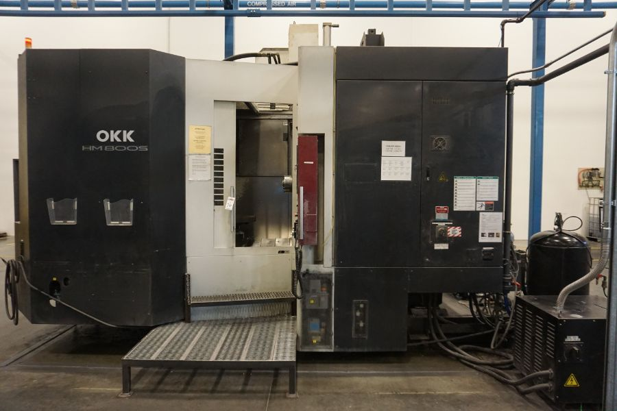 """OKK HM800 5-Axis, Fanuc 31i Model A5, (2) 32"""" Pallets, 12k RPM, CT50, 60 ATC, New 2011 with 12"""""""