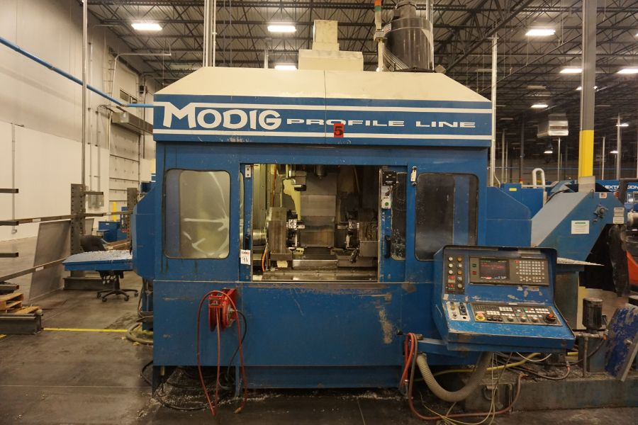 Modig MD7200, Fanuc 16M, 20K RPM, 24 ATC, CT40, s/n 970329, New 1997 - Image 13 of 16