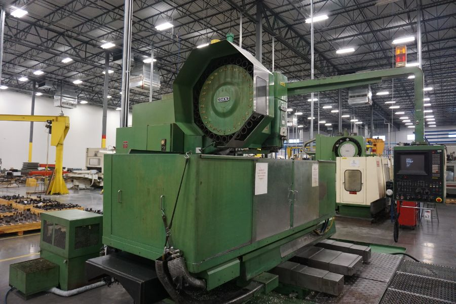 """OKK MCV-860 4-Axis VMC, Fanuc Neomatic System 11 Control, 80"""" x 34"""", 6000 RPM, CT50, 30 ATC, s/n - Image 3 of 13"""