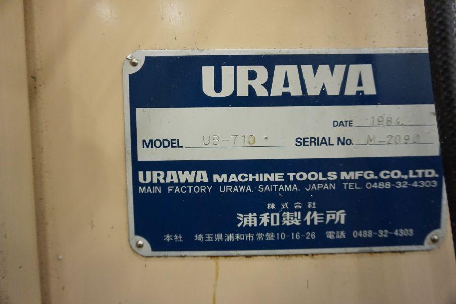 "Urawa UB-710 VMC , Fanuc System 6M Control, 32"" x 46"" Table, BT40, 22 ATC, s/n M-2090, New 1984 - Image 11 of 11"