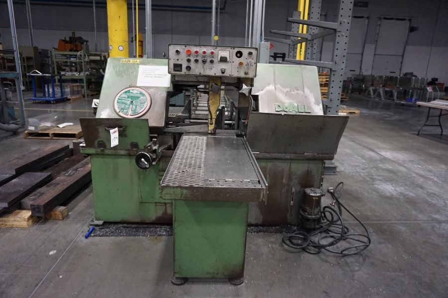"""DoAll C-1216A Hydraulic Horizontal Bandsaw, 160"""" Blade, s/n 373-79273 - Image 2 of 9"""