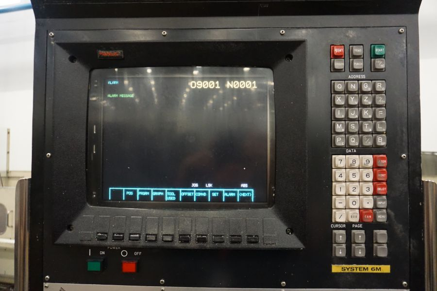 """Makino FNC-208 4-Axis VMC, Fanuc 6M Control, 32"""" x 98"""", 3200 rpm, 30 ATC, CT50, s/n 81 with 16"""" - Image 13 of 16"""