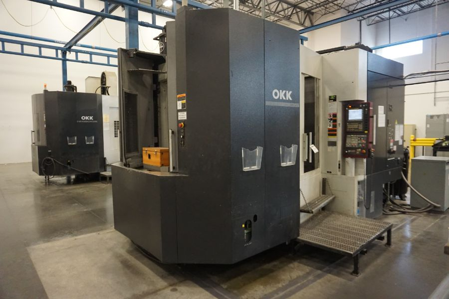 "OKK HM800S 4-Axis, Fanuc 310iS Model A, (2) 32"" Pallet, 12K RPM, CT50, 160 ATC, CTS, Chip - Image 4 of 20"