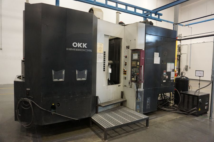 """OKK HM800 5-Axis, Fanuc 31i Model A5, (2) 32"""" Pallets, 12k RPM, CT50, 60 ATC, New 2011 with 12"""" - Image 2 of 17"""