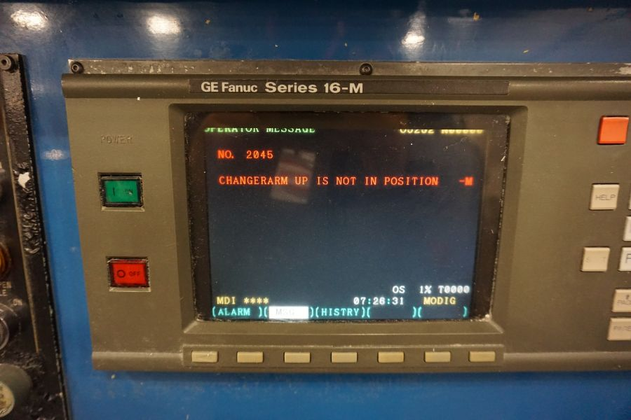 Modig MD7200, Fanuc 16M, 20K RPM, 24 ATC, CT40, s/n 970331, New 1997 - Image 11 of 14
