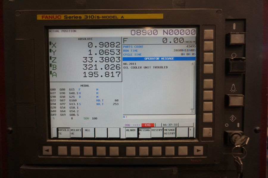 """OKK HM800 5-Axis, Fanuc 31i Model A5, (2) 32"""" Pallets, 12k RPM, CT50, 60 ATC, New 2011 with 12"""" - Image 10 of 17"""
