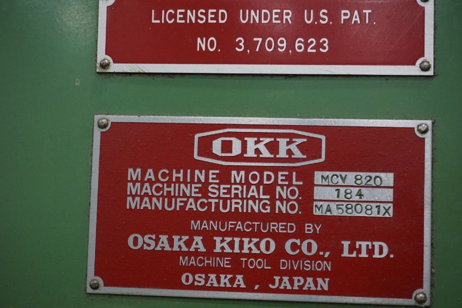 """OKK MCV-860 4-Axis VMC, Fanuc Neomatic System 11 Control, 80"""" x 34"""", 6000 RPM, CT50, 30 ATC, s/n - Image 13 of 13"""